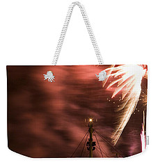 Weekender Tote Bag featuring the photograph Sky On Fire by Ian Middleton