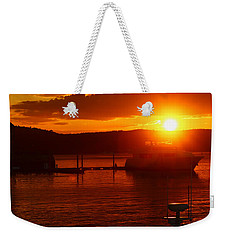 Weekender Tote Bag featuring the photograph Sky On Fire by Living Color Photography Lorraine Lynch