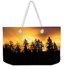 Sky On Fire Weekender Tote Bag