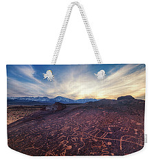 Weekender Tote Bag featuring the photograph Sky Rock by Tassanee Angiolillo