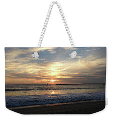 Sky Swirls Over Toes Beach Weekender Tote Bag