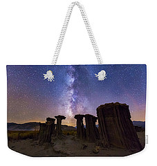 Weekender Tote Bag featuring the photograph Sky Watchers by Tassanee Angiolillo