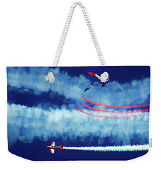 Weekender Tote Bag featuring the photograph Skydiver by Trey Foerster