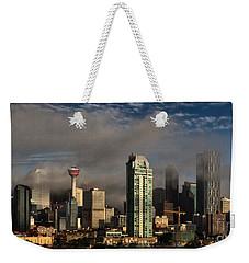 Skyline Fog Weekender Tote Bag