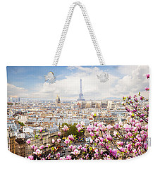 skyline of Paris with eiffel tower Weekender Tote Bag