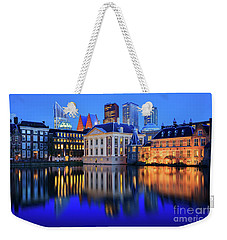 Skyline Of The Hague At Dusk During Blue Hour Weekender Tote Bag by IPics Photography
