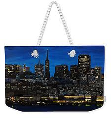 Skyline San Francisco Night Weekender Tote Bag