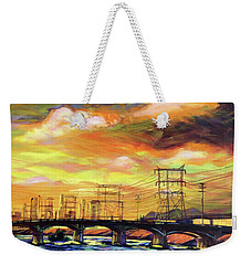 Skylines Weekender Tote Bag by Bonnie Lambert