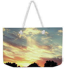 Weekender Tote Bag featuring the photograph Skyscape by Melinda Blackman
