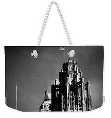 Skyscrapers Then And Now Weekender Tote Bag by Frank J Casella