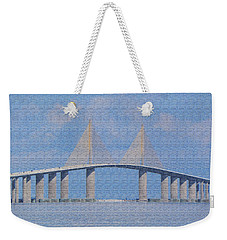 Skyway Bridge Weekender Tote Bag by Rosalie Scanlon