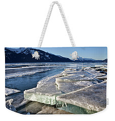 Weekender Tote Bag featuring the photograph Slabs Of Ice by Michele Cornelius