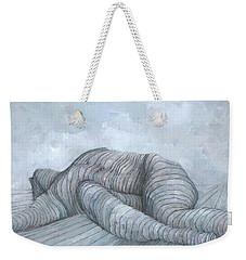 Weekender Tote Bag featuring the painting Slain by Steve Mitchell