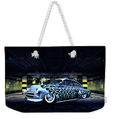 Weekender Tote Bag featuring the photograph Slammed by Steven Agius