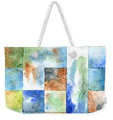 Slated Watercolor Weekender Tote Bag