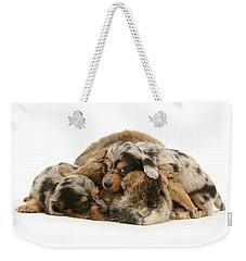 Sleep In Camouflage Weekender Tote Bag