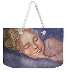 Weekender Tote Bag featuring the painting Sleeping Beauty by Marilyn Jacobson