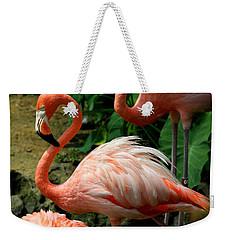 Sleeping Flamingo Weekender Tote Bag