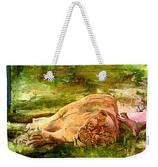 Sleeping Lionness Pushy Squirrel Weekender Tote Bag