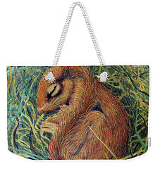 Sleeping Weekender Tote Bag by Phyllis Howard