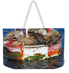 Weekender Tote Bag featuring the pyrography Sleeping Pod by Shoal Hollingsworth