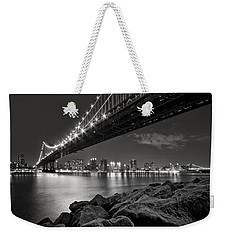 Sleepless Nights And City Lights Weekender Tote Bag