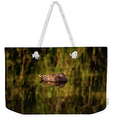 Weekender Tote Bag featuring the photograph Sleepy Duck, Yanchep National Park by Dave Catley
