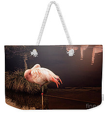 Sleepy Flamingo Weekender Tote Bag