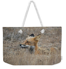 Sleepy Fox Weekender Tote Bag