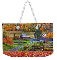 Sleepy Hollows Farm Woodstock Vermont Vt Autumn Bright Colors Weekender Tote Bag