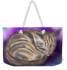 Weekender Tote Bag featuring the painting Sleepy Sam by Nick Gustafson