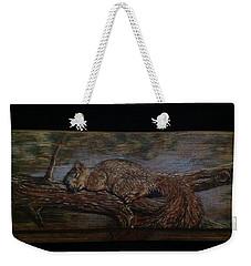 Sleepy Squirrel Weekender Tote Bag