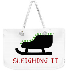Sleighing It- Art By Linda Woods Weekender Tote Bag