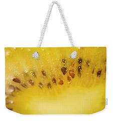 Sliced Kiwi Fruit Floating In Carbonated Beverage Weekender Tote Bag by Jorgo Photography - Wall Art Gallery