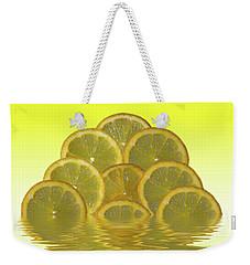 Slices Lemon Citrus Fruit Weekender Tote Bag by David French