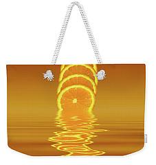 Slices Orange Citrus Fruit Weekender Tote Bag by David French