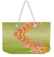 Weekender Tote Bag featuring the photograph Slices Pink Grapefruit Citrus Fruit by David French