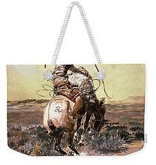 Slick Rider Weekender Tote Bag by Charles Russell