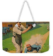 Sliding Home 1897 Weekender Tote Bag by Padre Art