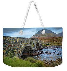 Weekender Tote Bag featuring the photograph Sligachan Bridge View #h4 by Leif Sohlman