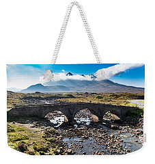 Weekender Tote Bag featuring the photograph Skye Cuillin From Sligachan by Gary Eason