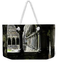 Weekender Tote Bag featuring the photograph Sligo Abbey Interior by RicardMN Photography