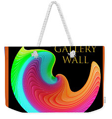 Weekender Tote Bag featuring the photograph Slinky Dove Of Peace-the Gallery Wall Logo by Wendy Wilton