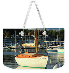 Weekender Tote Bag featuring the photograph Sloop Reflections by Roupen  Baker