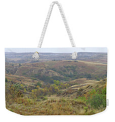 Slope County In The Rain Weekender Tote Bag