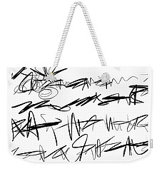 Sloppy Writing Weekender Tote Bag