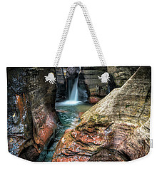 Slot Canyon Waterfall At Zion National Park Weekender Tote Bag