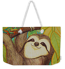 Sloth And Frog Weekender Tote Bag