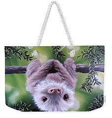Sloth'n 'around Weekender Tote Bag by Dianna Lewis