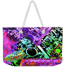 Weekender Tote Bag featuring the mixed media Slouch by Tony Rubino